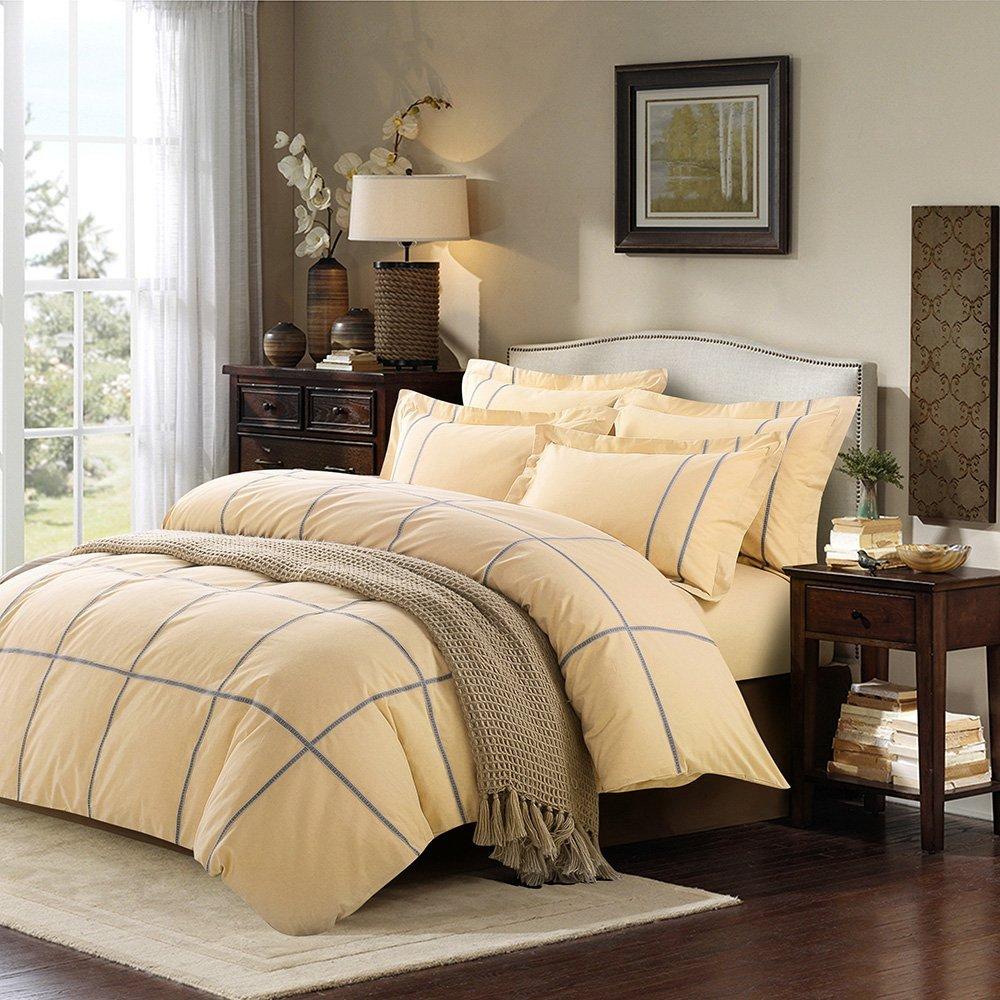 Downia Tây Trang, series bốn mảnh (phù hợp với 1.8 mét giường) - Villa (vàng) chăn ấm bốn mảnh khăn
