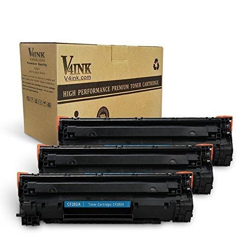 V4ink 1 mảnh đạn mới tương thích cf283 (83) cartridge LaserJet Pro - đen có thể áp dụng cho m127 m12