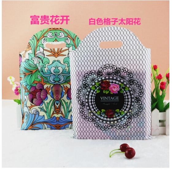 Trang phục quần áo túi nhựa bao tay dày của túi đồ mỹ phẩm túi túi quà túi nhựa nữ quần áo túi Phú Q