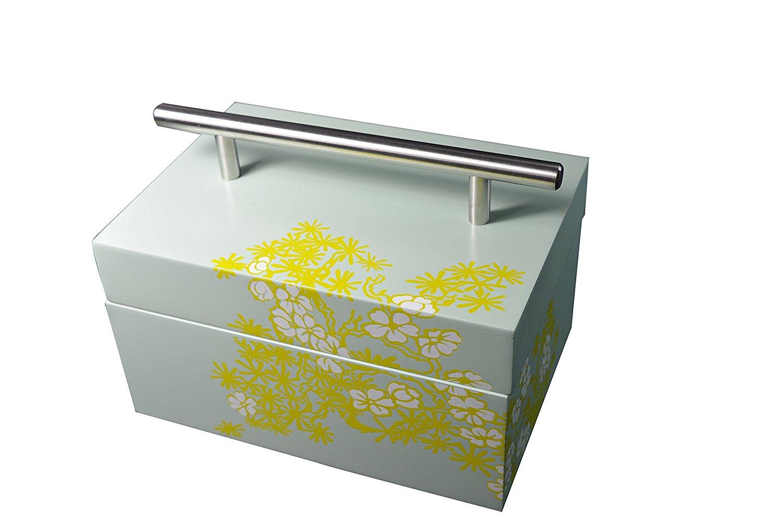 PIBOX   giữ hộp lưu trữ laquer két sắt màu xanh ngọc Sơn được nâng lên nắp mang không gỉ được áp dụn