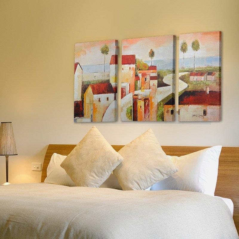 Emit Triệu phòng khách phòng ngủ không có khung vẽ bức bích họa trang trí nhà hàng khối hộp phân phố