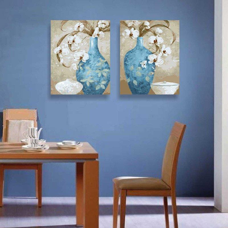 EMIT triệu số tranh sơn dầu vải gỗ thật đấy khung tranh 40*50cmDIY vẽ trang trí phòng khách với loạt