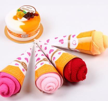 SIBAOLU Erebus Valentine khăn mini kem bánh cưới quà lưu niệm khăn đáp tạ nhỏ hoạt động sáng tạo côn