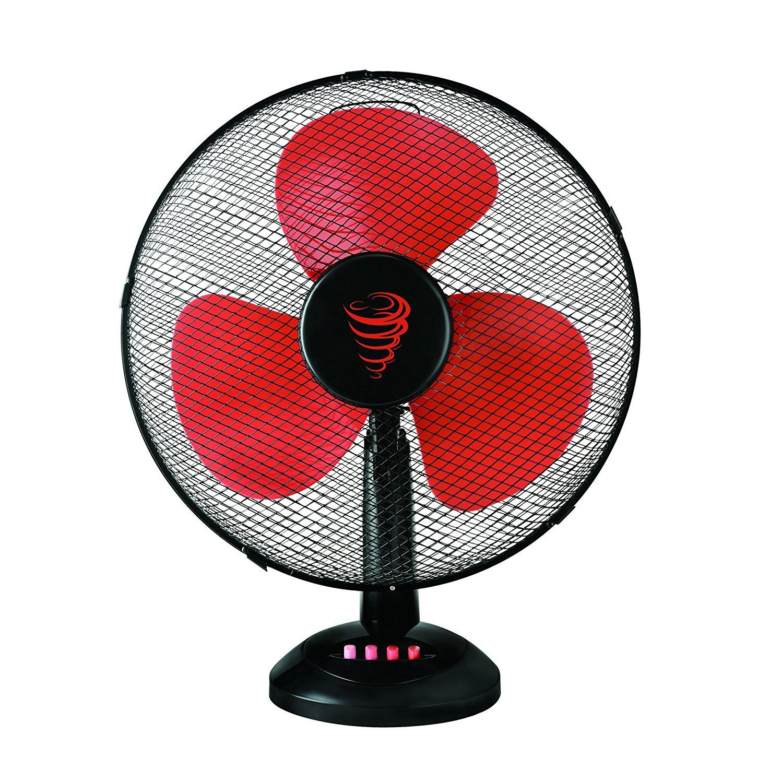 TKG DESK TOP fan hâm mộ.30.5 cm, 40 W / đỏ, đen.