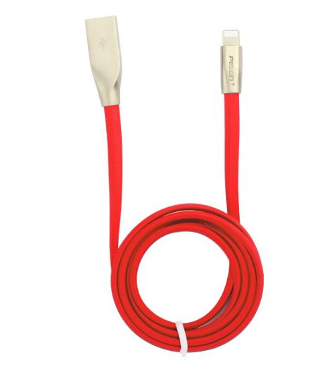 PISEN /Pisen dây kẽm kim loại dữ liệu Apple iPhoneX/8/7/6 áp dụng Lightning sạc điện thoại hàng đầu