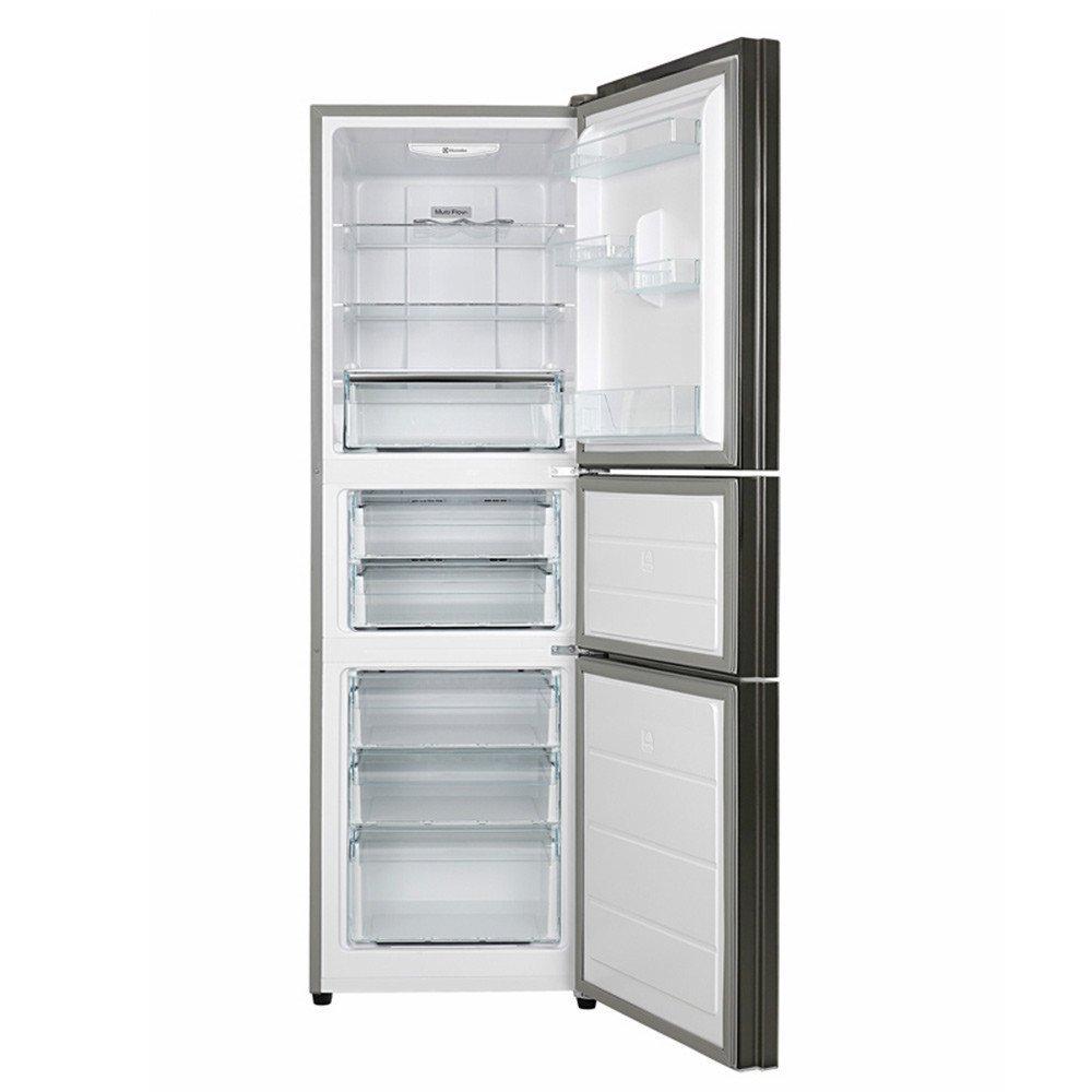 Electrolux eme221gga 221 lên tấm kính không có kem ba cửa tủ lạnh thời gian bạc
