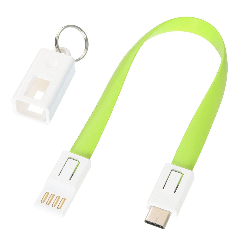 Dòng dữ liệu Thông tin liên lạc etsumi / móc chìa khóa dây xanh dây sạc dữ liệu yêu 6858 C - type
