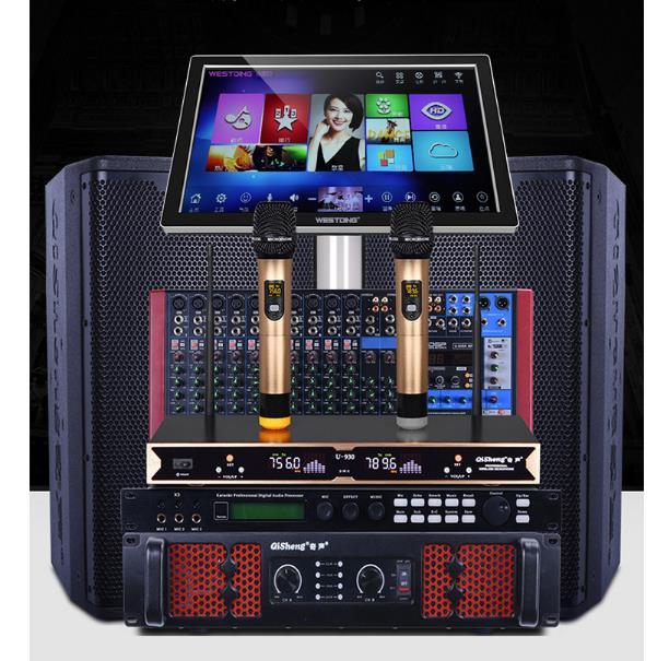 QISHENG   đôi 15 inch, sân khấu biểu diễn dàn âm thanh chuyên nghiệp Bộ trình KTV chỉnh kỹ thuật sa