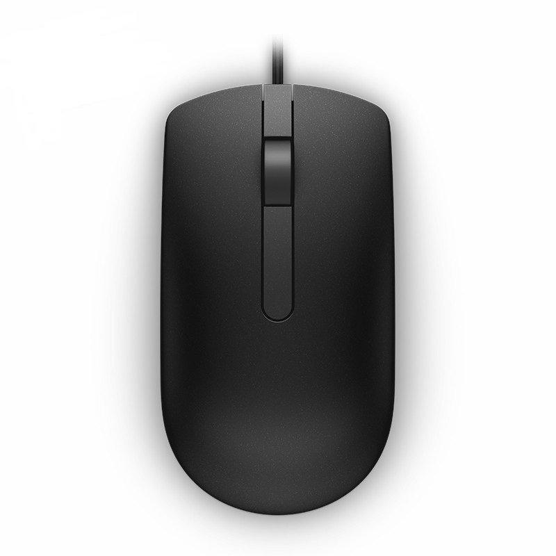 Máy vi tính để bàn   Dell Dell MS116 mới ráp xong cáp. Chuột đen đơn giản. Thoải mái.