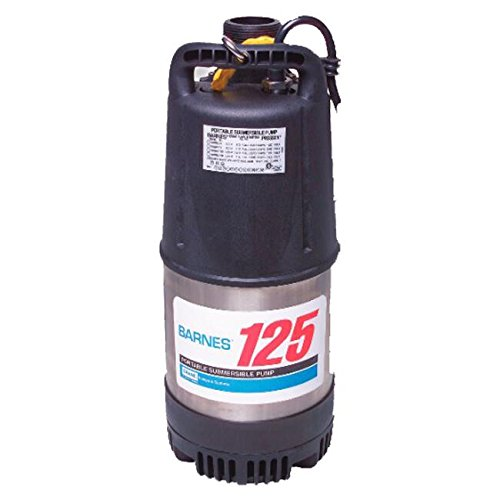 Crane Pumps Cần cẩu cao gót 115125 chìm dewatering cao gót, 1,25 HP, đen