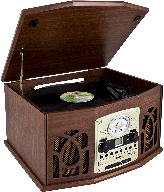 Telefunken   De luật phong tcd200m hoài niệm thiết bị âm nhạc mang máy hát (FM radio, CD - ROM ghi đ