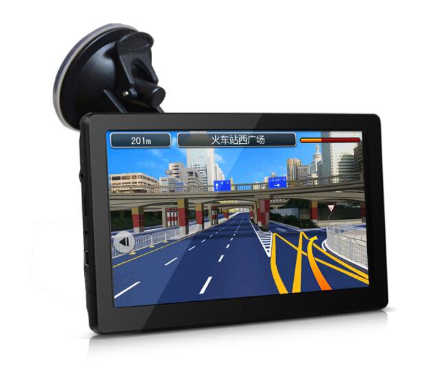 thiết bị định vị cầm tay bên ngoài Văn Trì Âu Portable 7 inch xe ô tô xe gắn GPS OnStar! chó một điệ