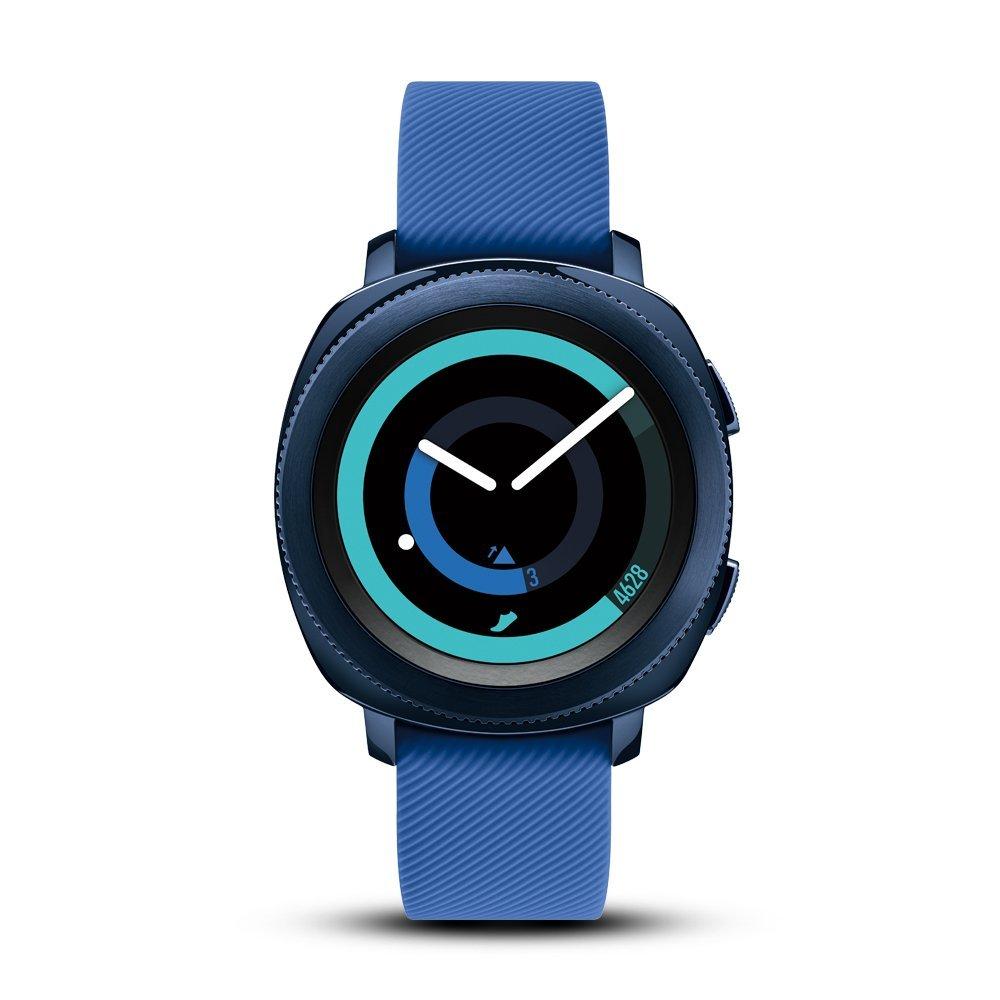 Samsung Gear thể thao đồng hồ thông minh màu xanh.