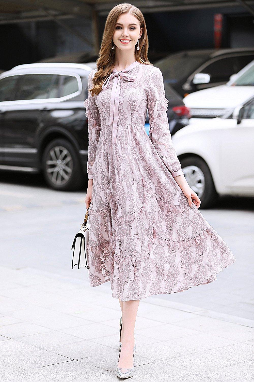 Đầm  - phía Tây Seoul Xuân Thu mới Tây khí thời trang Lacey trong Hồng lâu. Điều này hiển gầy bảy ph