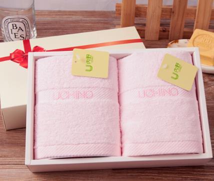 UCHINO Nhật Bản (UCHINO) khăn thêu từ hai mảnh khăn tắm, khăn khăn hồng phúc lợi công ty P