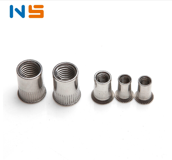 NS N.S. 304 / lớn nhỏ bằng thép không gỉ chìm đầu hạt ổn định dọc sọc / chìm đầu hạt ổn định / kéo