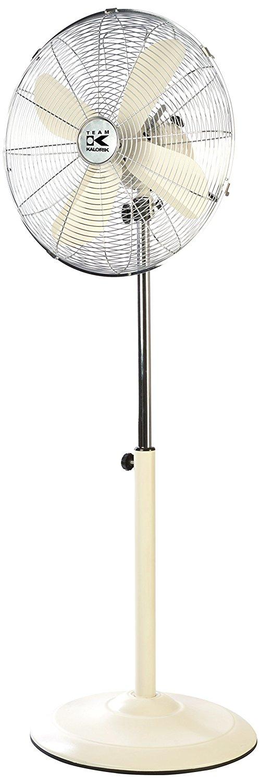 TKG Vintage Pedestal khung kim loại quạt, 27.94 cm, 50 W, creme