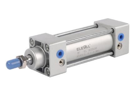 (ELECALL) tiêu chuẩn phức tạp động lanh loại SC Lanh que xi lanh khí nén nhôm hợp kim loại công cụ S