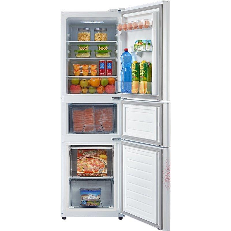 Midea Vẻ đẹp của Midea BCD-210TM (E) 3 mở cửa tủ lạnh gia dụng 210 lít tiết kiệm điện tắt máy trắng