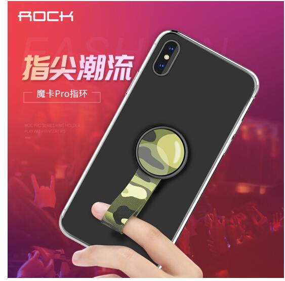 ROCK Locke (ROCK) nhẫn khung màn hình điện thoại thẻ sẽ tốt hơn kiểu khung áp dụng Apple Samsung Hua