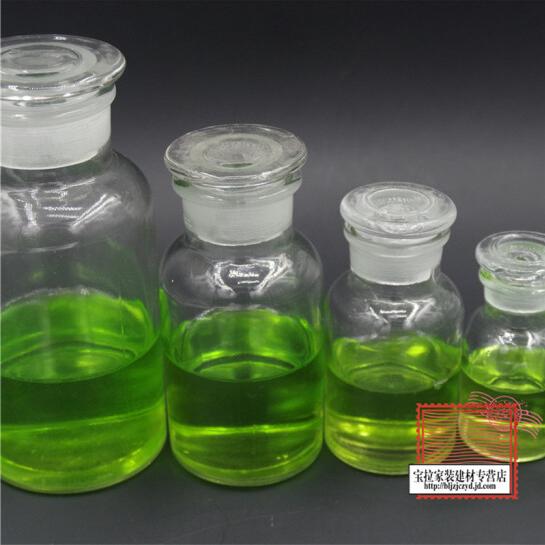 Miệng chai thủy tinh ngụm rộng 60ml sơ trung học thí nghiệm hóa học thiết bị y tế thiết bị dụng cụ n