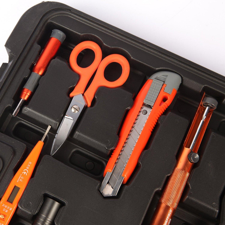 SHEFFIELD 57 miếng thép không sửa chữa điện viễn thông nhóm bộ công cụ đo điện dao bút thử điện bàn