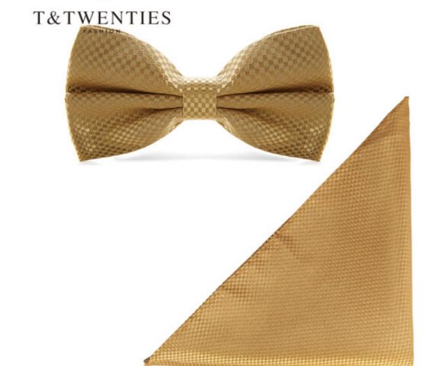 T&Twenties T&Twenties nơ đám cưới chú rể phù rể nơ bộ vét túi ngực đi bộ băng nơ cài áo khăn mặt