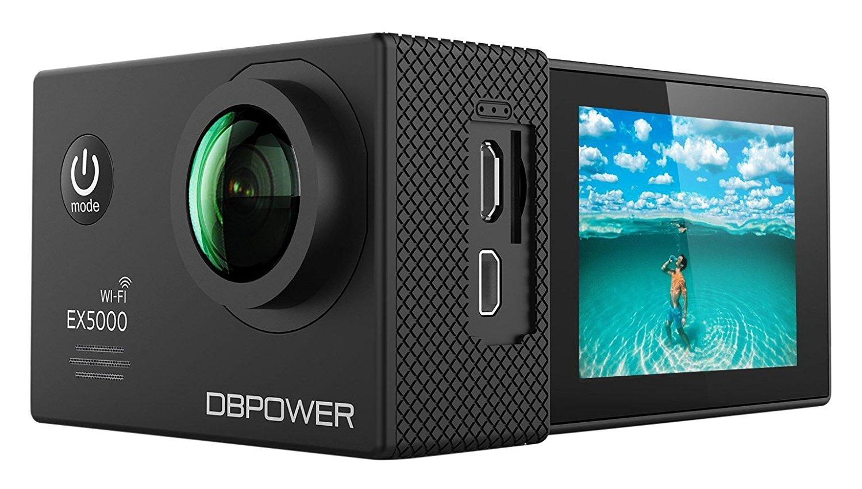 Dbpower mới ráp xong ex5000 WIFI 14 bộ môn thể thao không thấm nước FHD MP camera cải tiến mang 2 cụ