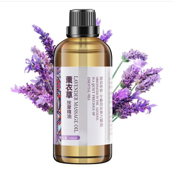 Tinh dầu oải hương. 100ml LILIA massage theo thông kinh mạch có thể làm giảm các chất cơ thể mở lưng