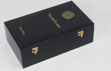LA MIU Rượu vang trong hộp đôi khẩu rượu vang rượu vang đỏ da hộp hộp hộp trang trí hộp đen, Ralphy