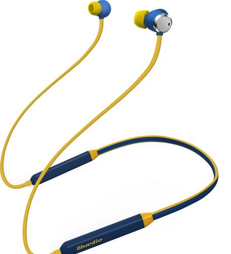Bluedio Bluedio/ xanh dây tai nghe Bluetooth không dây TN Thể thao giảm nhiễu chạy đôi tai nghe cổ k