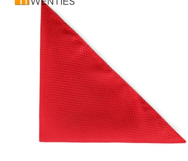T&Twenties T&Twenties túi ngực cân nam bộ cân khăn cài áo chú rể nơ túi lắp bộ cân nhiệt tình đỏ