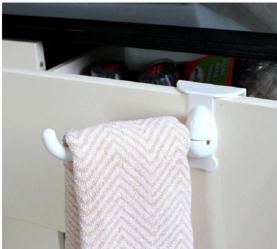 NAJU nhựa Đồ dùng nhà bếp không sáng tạo lỗ quay đằng sau cánh cửa nóc nhà, ngăn kéo tủ quần áo miễn