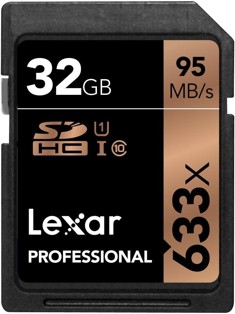 Lexar Ray Professional 633x 32GB SDHC UHS-I trữ thẻ w/Image Rescue 5 phần mềm - LSD32GCB1NL633