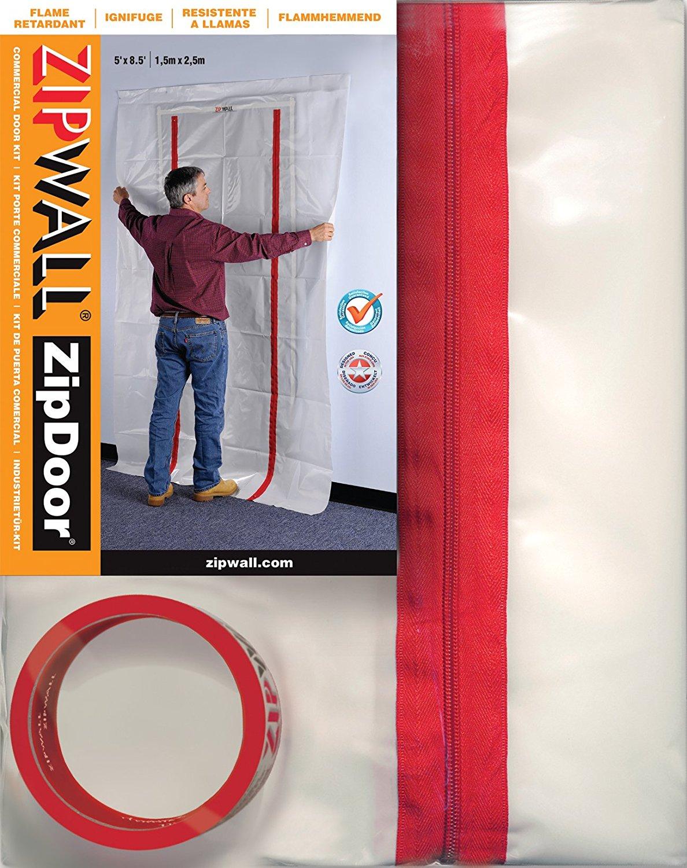 Thị trường phụ kiện máy móc  Zipwall ZDS đóng cửa cửa ngăn chặn tiêu chuẩn Kit