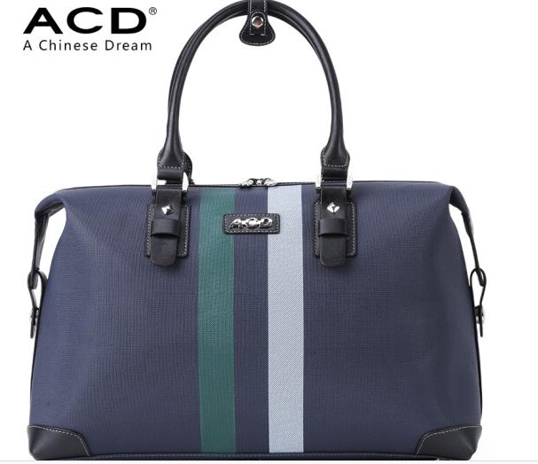ACD Da PVC ACD túi du lịch Nam nữ công suất lớn đóng gói hành lý xách tay cái túi da túi chống thấm