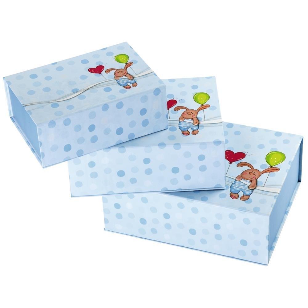 hama Thỏ con Hama hộp giấy gói quà tặng giấy gói quà tặng ( vẽ bộ đồ xanh 230 mm 180 mm)