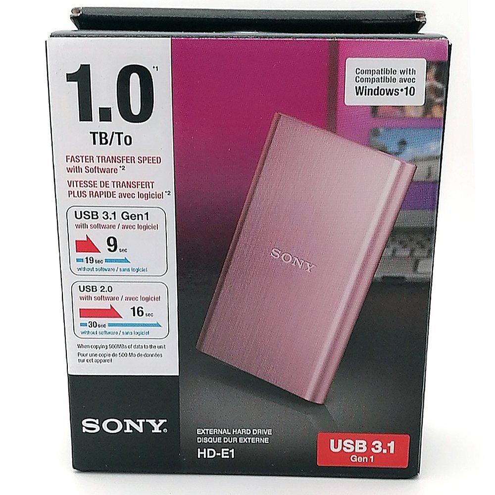Ổ cứng di động   SONY Sony HD-E1 1TB ổ cứng di động USB3.0 (E1 1TB, bột)