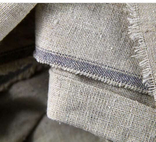 Artoop 160cm H1213 vải sọc rộng tranh sơn dầu lanh pha trộn vải mộc 160cm nhà sản xuất bán buôn