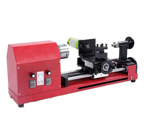 ANJIESHUN Speed chuỗi tràng hạt máy siêu nhỏ máy máy tiện đánh bóng chạm khắc mộc máy tiện màu đỏ.