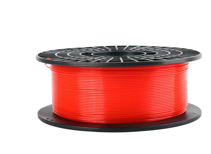 PrintRite in 3D trong suốt PLA 3 chiều máy in 3D in vật liệu trong suốt màu đỏ.
