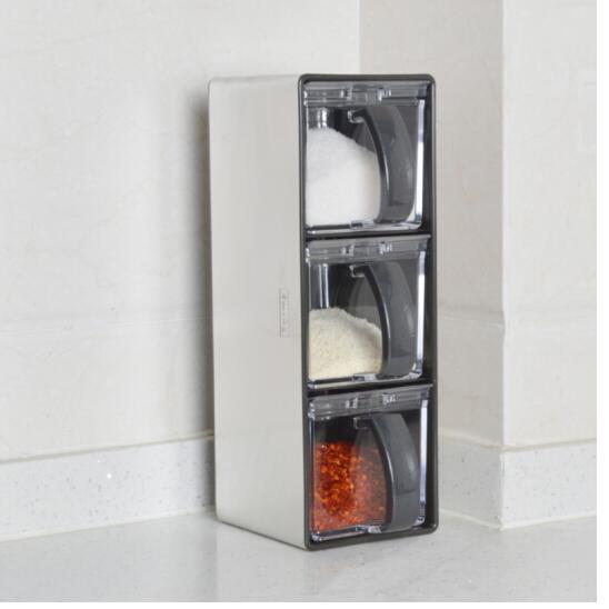 ASVELlần Diệc (ASVEL) Nhật Bản đồ nhà bếp hộp lọ gia vị dùng hộp thế nào đi nữa vào 2 vào /3 vào bộ