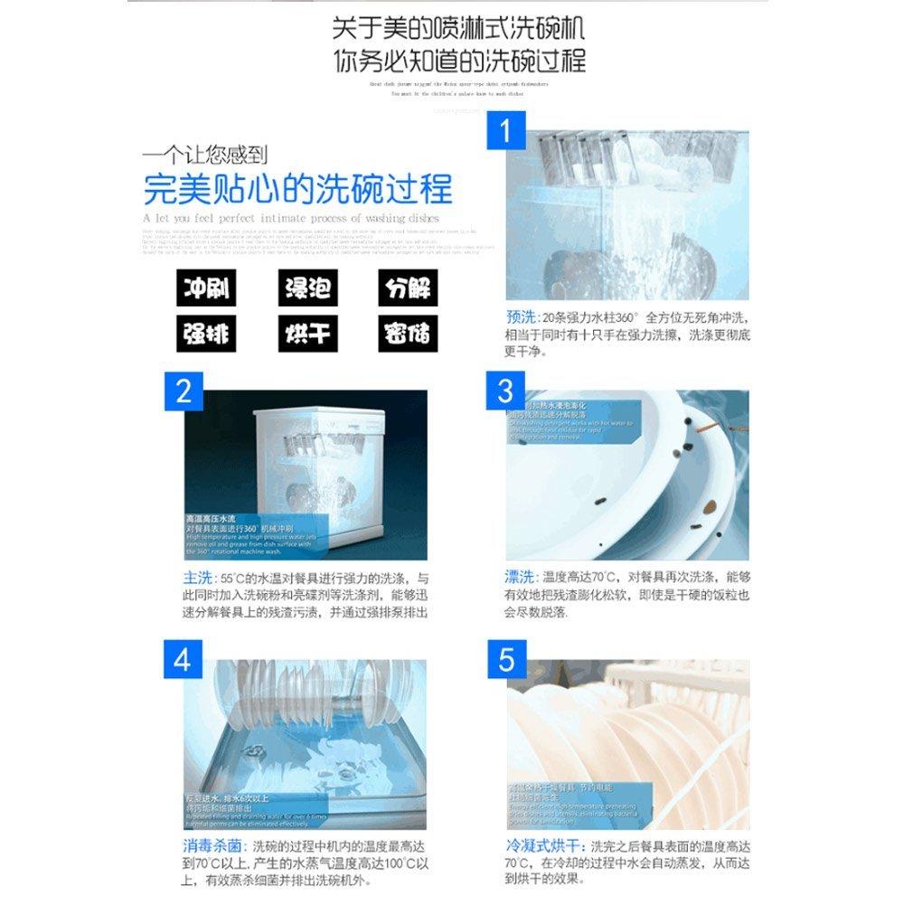 Tủ khử trùng  Nhúng rửa bát Midea/ đẹp mới cao cấp WQP8-3905-CN gia dụng tự động hoàn toàn.