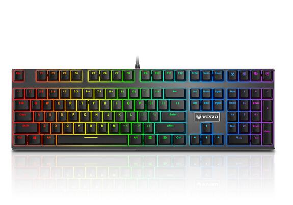 Rapoo (Rapoo) V700RGB Metal Edition khuất bóng bàn phím máy chơi trò chơi máy tính bàn phím trên bàn