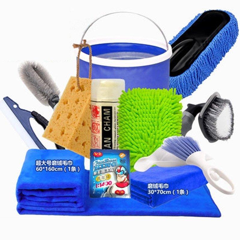 SNBLO rửa xe khăn tắm rửa xe kết hợp một bộ công cụ đồ gia dụng gói sản phẩm sạch nước rửa xe 6 mảnh