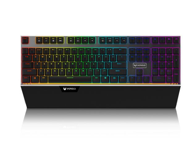 Rapoo (Rapoo) V720 RGB khuất bóng bàn phím máy chơi trò chơi trên bàn phím trên bàn phím trên bàn ph