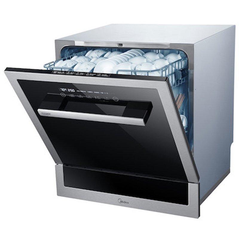 Máy rửa chén   Mỹ (Midea) WQP8-3906B-CN 8 bộ WIFI thông minh nhúng rửa bát giặt khô.
