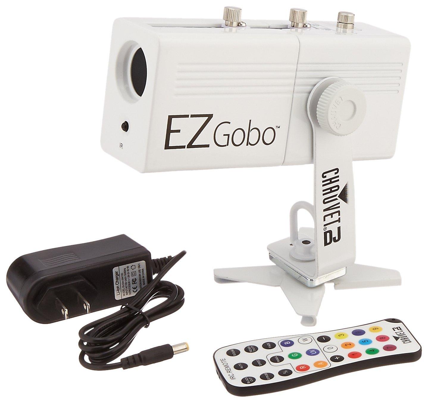 Chauvet DJ ezgobo pin dẫn phim màu máy W / nhãn hiệu ứng zoom DJ đèn