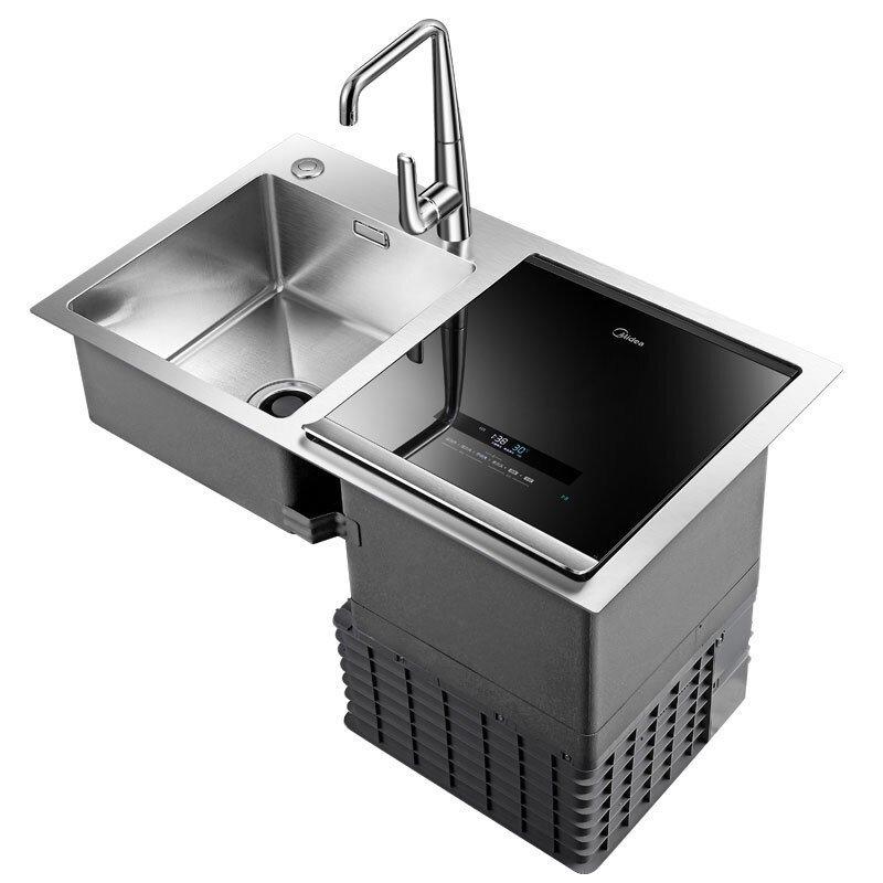 Máy rửa chén   Vẻ đẹp Midea 6 bộ đổi tần số siêu âm rửa bát gia đình sống nước rửa tay đi ba bồn rửa