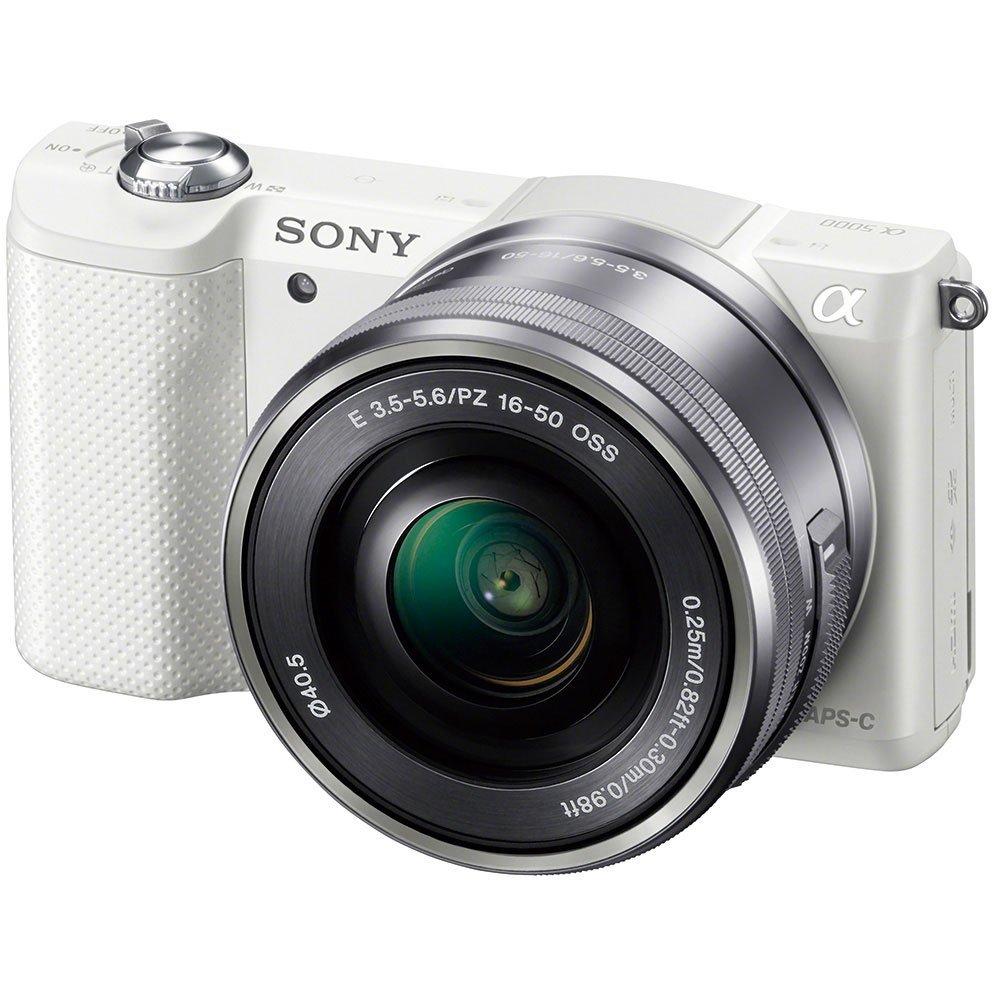 Sony Sony ILCE-5000L/W vi đơn ™ máy ảnh ống kính đơn bộ (E PZ 16-50mm F3.5-5.6 chuyên viên) (màu trắ